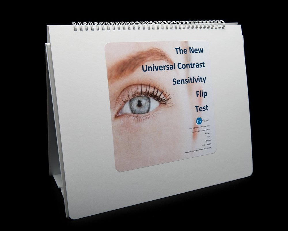 The Universal Contrast Flip Eye Test for Adults